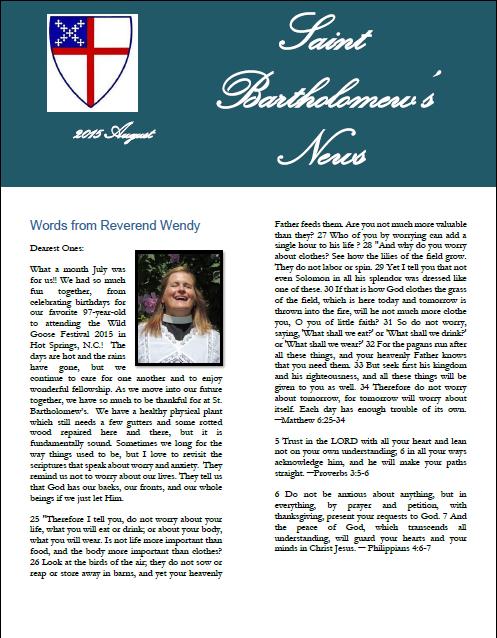 2015-08-Newsletter
