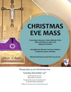 Christmas Eve Mass invitation and flyer
